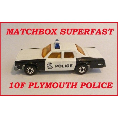 Matchbox Superfast MB10f Plymouth Police Car