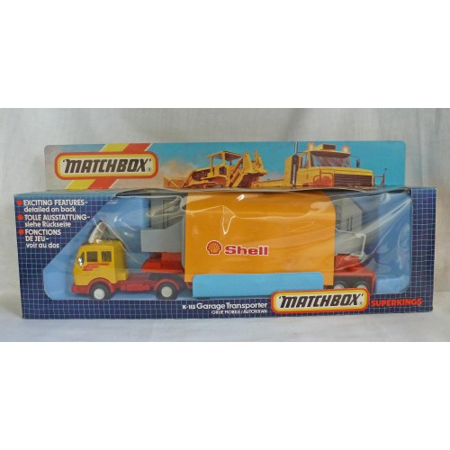 Matchbox SuperKings K-113 Shell Garage Transporter
