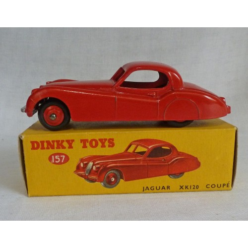 Dinky Toys 157 Jaguar XK120 Coupe Red