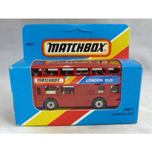 """Lesney Matchbox Blue Box MB17g Leyland Titan Bus ""Matchbox London Bus"""