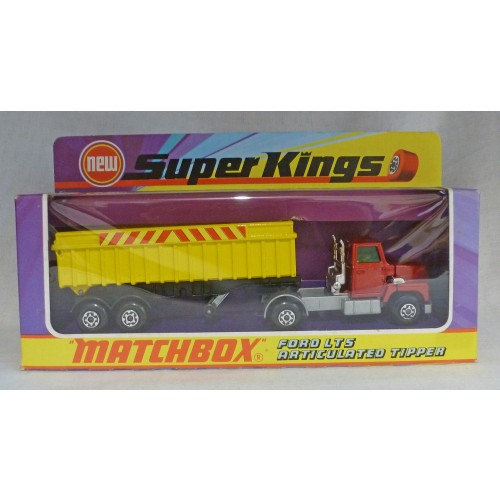 Matchbox SuperKings K-18 Ford LTS Articulated Tipper Yellow/Red