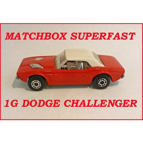 Matchbox Superfast MB1g Dodge Challenger
