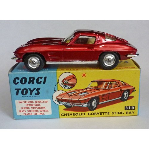 Corgi Toys 310 Corvette Sting Ray
