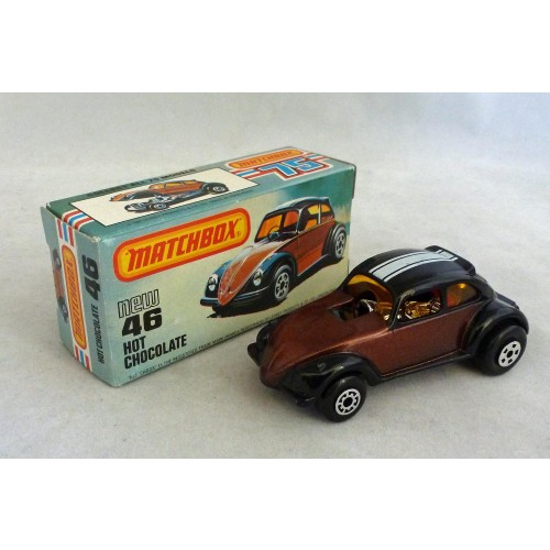 Matchbox Superfast MB46 Hot Chocolate VW Beetle