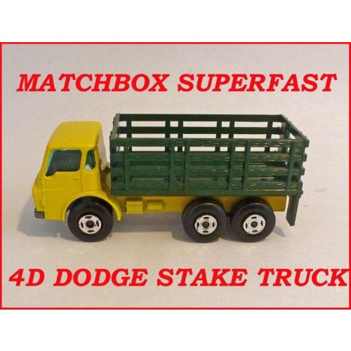 Matchbox Superfast MB4d Dodge Stake Truck