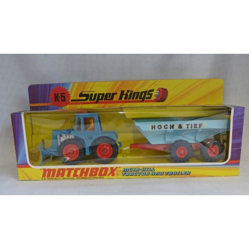 Matchbox SuperKings K-5 Hoch & Tief Tractor Set