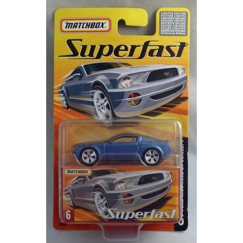Matchbox Superfast MB6 Ford Mustang GT Concept Metallic Blue