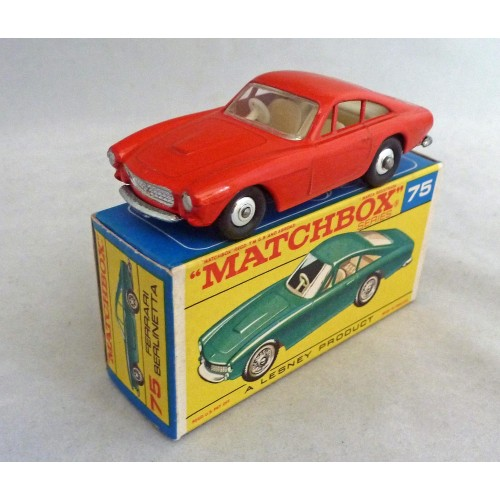 Matchbox Toys MB75b Ferrari Berlinetta RED