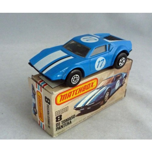 Matchbox Superfast MB8 De Tomaso Pantera without Pantera Tampo
