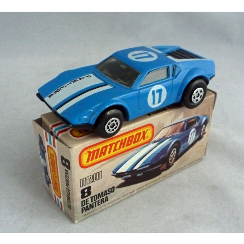 Matchbox Superfast MB8 De Tomaso Pantera with Pantera Tampo