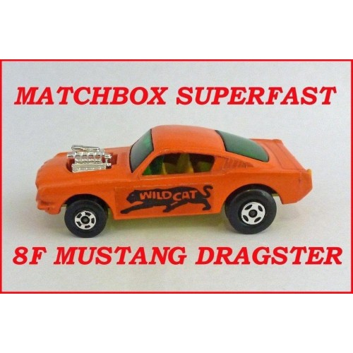 Matchbox Superfast MB8f Ford Mustang Wild Cat Dragster