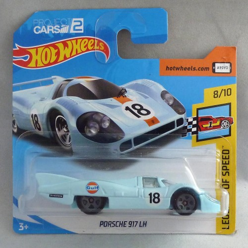 "HotWheels Porsche 917 LH Baby Blue ""Legends of Speed"" 8/10"