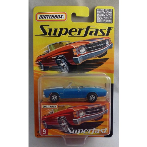 Matchbox Superfast MB9 Chevy Chevelle Metallic Blue