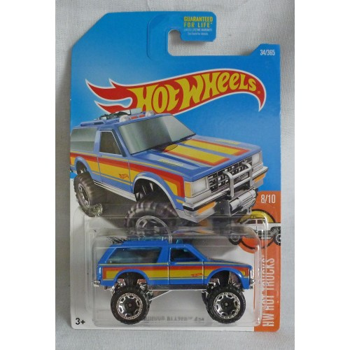 "HotWheels Chevy Blazer Blue ""HW Hot Trucks"" 8/10"