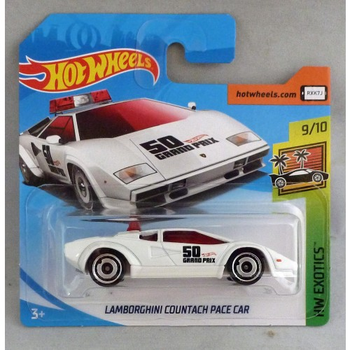 "HotWheels Lamborghini Countach Pace Car White ""HW Exotics"""