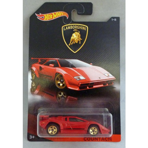HotWheels Lamborghini Countach Red 1/8