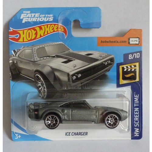 """HotWheels Fast & Furious """"The Fate of the Furious"""" Ice Charger Short Card 8/10"""