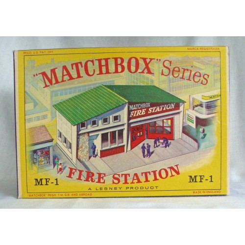 Matchbox Series MF-1 Fire Station Green Roof with Red Shield Design