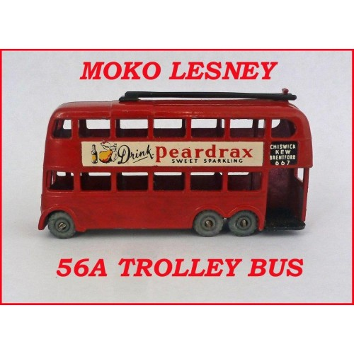 Moko Lesney Matchbox MB56 London Trolley Bus 56a