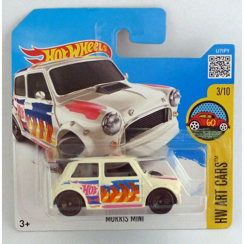 HotWheels Morris Mini HW Art Cars 3/10 White Short Card