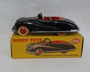Dinky Toys 106 Austin Atlantic Convertible Black
