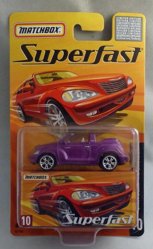Matchbox Superfast MB10 Chrysler PT Cruiser Metallic Purple