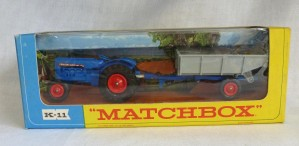 Matchbox King Size K-11 Fordson Tractor & Farm Trailer WB