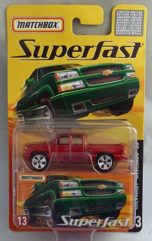 Matchbox Superfast MB13 Chevrolet Silverado SS Metallic Red