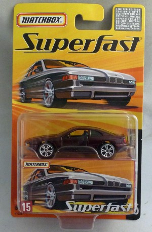 Matchbox Superfast MB15 BMW 850i Metallic Maroon