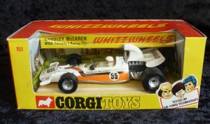 Corgi Toys 151 Yardley McLaren Racing Car with Solid Wheels