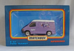 "Matchbox SuperKings K-167 Ford Transit Van ""Milka"""