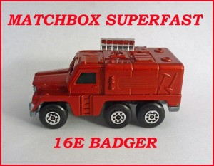 Matchbox Superfast MB16 Badger 16e