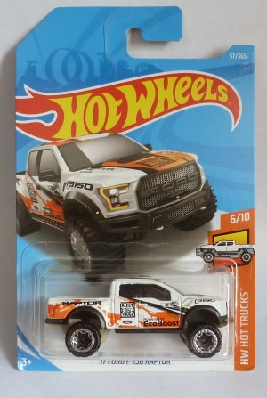 "HotWheels '17 Ford F-150 Raptor ""HW Hot Trucks"" 6/10"