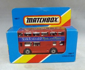 Lesney Matchbox Blue Box MB17g Londoner Bus York Festival