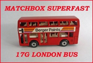 Matchbox Superfast MB17 Londoner Bus Chesterfield 17g