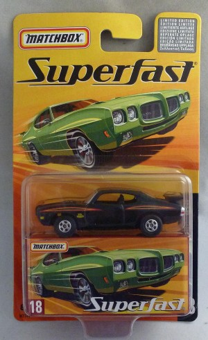 "Matchbox Superfast MB18 1970 Pontiac GTO ""The Judge"" Black"