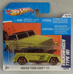 "HotWheels Volkswagen Type 181 Lime Green ""Faster Than Ever"""