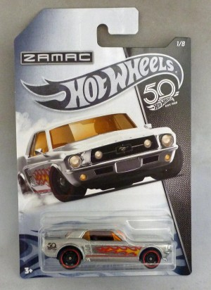 HotWheels 50 Years Zamac '67 Ford Mustang Coupe 1/8