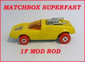 Matchbox Superfast MB1 Mod Rod Silver Streak