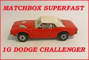 Matchbox Superfast MB1 Dodge Challenger 1g