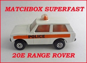 Matchbox Superfast MB20 Range Rover Police Patrol Pre Production 20e