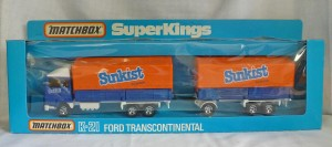 "Matchbox Superkings K-21 Ford Transcontinental ""Sunkist"""