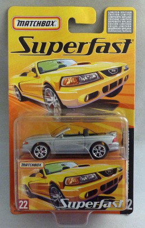 Matchbox Superfast MB22 Ford SVT Mustang Cobra Silver