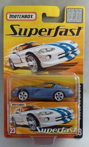 Matchbox Superfast MB23 Dodge Viper GTS Metallic Blue