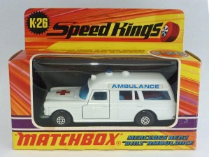 "Matchbox Speed Kings K-26 Mercedes ""Binz"" Ambulance [B]"