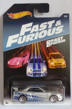 HotWheels Fast & Furious Paul Walker's Nissan Skyline GT-R 2/8