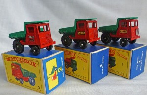 Matchbox Picture Box Collection Preview MB2c Site Dumpers