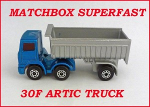 Matchbox Superfast MB30 Artic Truck 30f