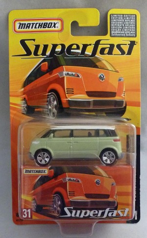 Matchbox Superfast MB31 Volkswagen Microbus Pale Sage Green