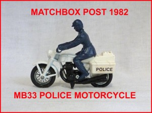 Matchbox MB33 Police Motorcycle